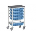 PhlebotomoyTrolley with stainless steel work surface