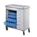 Theatre Trolley with tambour front