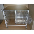 Anaesthetic Trolley with pull out storage baskets