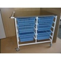 Hospital Anaesthetic Trolley with storage trays