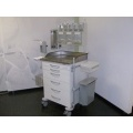 Anaesthetic Care Trolley with Stainless Steel Top